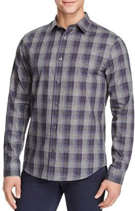 Vince Melrose Ombré Plaid Flannel Slim Fit Button-Down Shirt $225 thestylecure.com