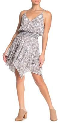 Moon River Smocked Waist Print Dress