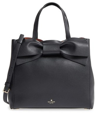 Kate Spade New York Olive Drive Brigette Leather Satchel $448 thestylecure.com