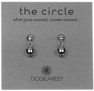 Dogeared Sterling Silver 'The Circle' Ball Bead Drop Earrings