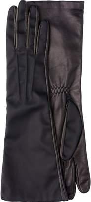 Prada Long nylon and leather gloves