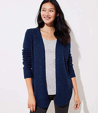 LOFT Marled Shirttail Cardigan