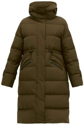 Herno High Neck Quilted Down Filled Coat - Womens - Khaki