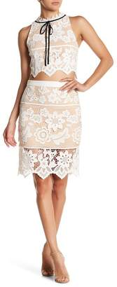endless rose Floral Lace Skirt $76 thestylecure.com