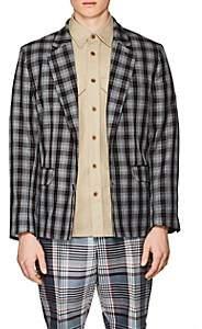 Gosha Rubchinskiy Men's Plaid Twill Two-Button Sportcoat - Gray