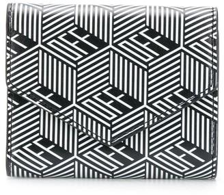 Off-White geometric print mini wallet