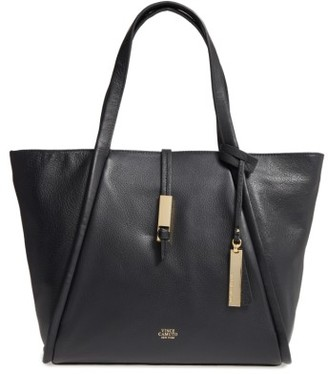 Vince Camuto Reed Small Leather Tote - Black $198 thestylecure.com