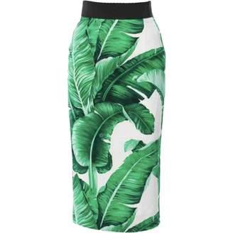 Dolce & Gabbana Green Silk Skirts