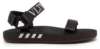 Valentino Vltn Velcro Sandals - Mens - Black