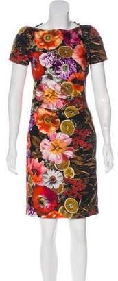 Talbot Runhof Printed Knee-Length Dress