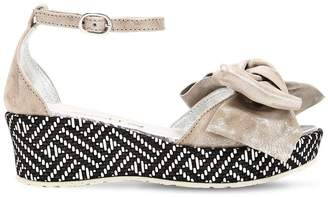 Simonetta 30mm Printed Nappa Leather Wedges