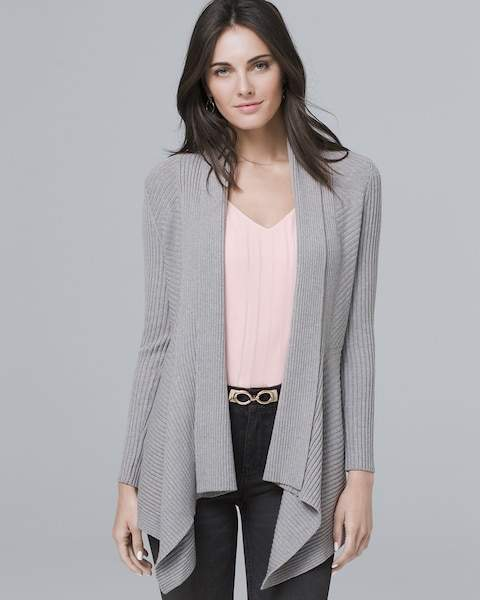 Whbm Ribbed Cover-Up Sweater