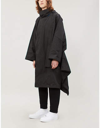 Moncler Asymmetric-hem hooded shell coat