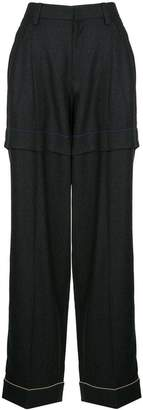 Kolor contrast stitch straight trousers