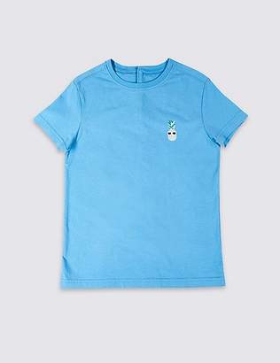Marks and Spencer Easy Dressing Pineapple T-Shirt (3-16 Years)