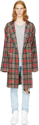 Fear Of God Brown Plaid Robe Coat