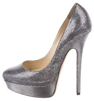 Jimmy Choo Sequin High Heels