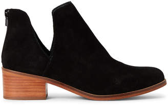 Steve Madden Black Rony Suede Ankle Booties