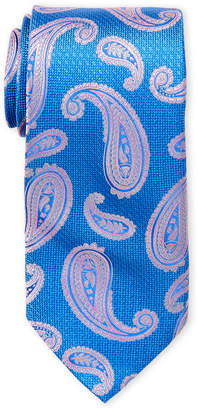 Piattelli Bruno Light Blue Paisley Silk Tie