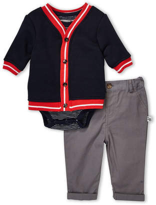 Pippa Little Brother By & Julie (Newborn Boys) 3-Piece Cardigan & Chinos Set