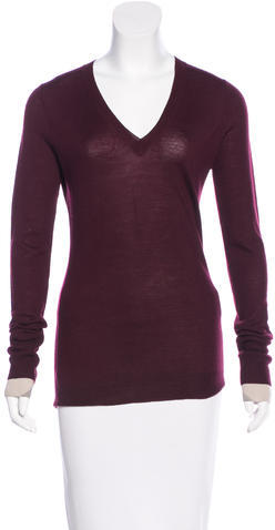 Burberry  Burberry Brit Wool V-Neck Sweater