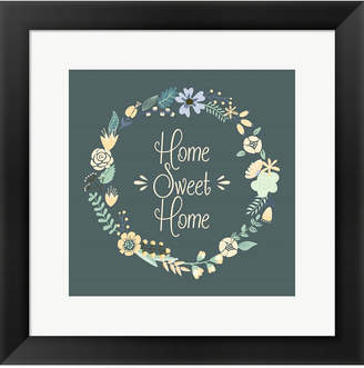 Flor Home Sweet Home By Color Me Happy Framed Art