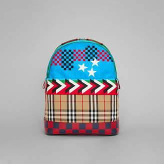 Burberry Graphic Print Nylon Backpack