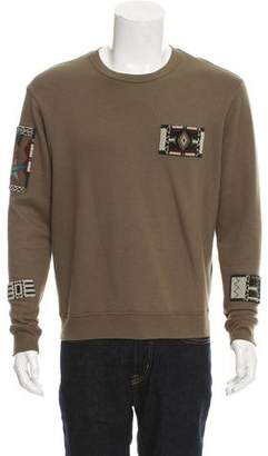 Valentino Crew Neck Bead-Embroidered Sweatshirt w/ Tags