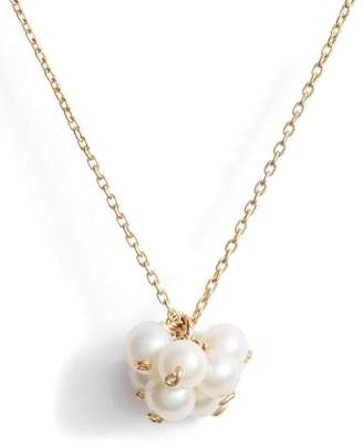 Poppy Finch Baby Pearl Cluster Pendant Necklace