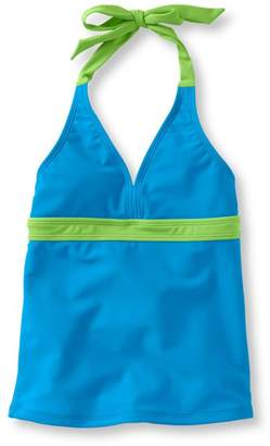 L.L. Bean L.L.Bean Girls' BeanSport Swimsuit Top, Halter