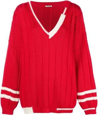 Miu Miu knitted cricket jumper