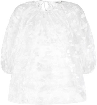 Cecilie Bahnsen sheer puffed sleeve blouse