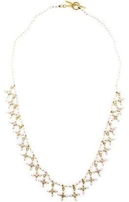 Cathy Waterman 22K Pearl & Diamond Collar Necklace