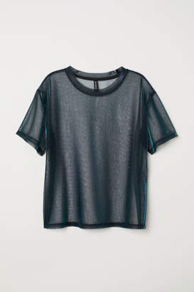 H&M Shimmering Mesh Top - Purple