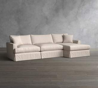 Pottery Barn Sullivan Deep Seat Slipcovered Sofa with Chaise Sectional