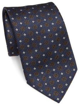 BrioniBrioni Circle Printed Silk Tie