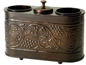 """Old Dutch Antique Embossed """"Heritage"""" Two Bottle Wine Chiller"""