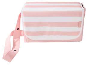 George My Babiie Pink thin Stripes Baby Changing Bag
