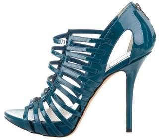 Christian Dior Caged Peep-Toe Booties