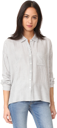 Soft Joie Caitriona Button Down Shirt $168 thestylecure.com