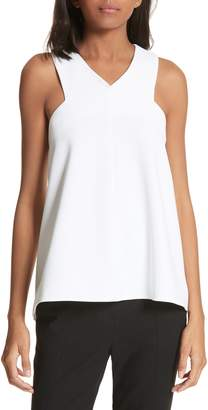 Tibi Structured Crepe Sleeveless Blouse