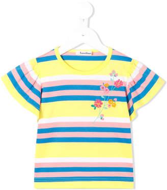 Familiar ruffled sleeve striped top