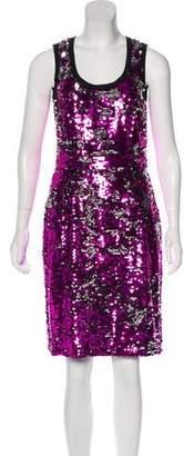 Dolce & Gabbana Sequined Sheath Dress