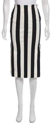 Land of Distraction Circus Stripe Pencil Skirt w/ Tags