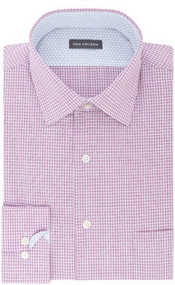 Van Heusen Air Long Sleeve Broadcloth Checked Dress Shirt
