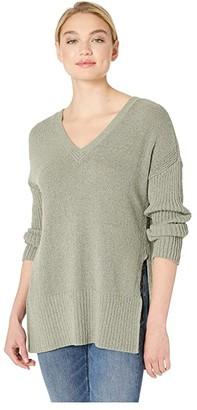 BB Dakota Getting Warmer V-Neck Wide Ribbed Sweater