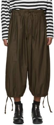 Yohji Yamamoto Khaki Front Open Trousers