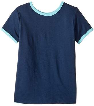 4Ward Clothing Four-Way Reversible Short Sleeve Scoop Jersey Top Girl's T Shirt