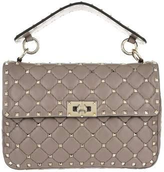 0d92f28d0d6c Valentino Rockstud Spike Crossbody Bag Medium Poudre