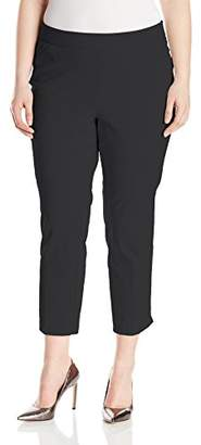 Briggs Women's Plus Size Super Stretch Millennium Slimming Pull-On Ankle Pant
